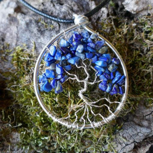 Pendentif Arbre de Vie en Lapis Lazuli