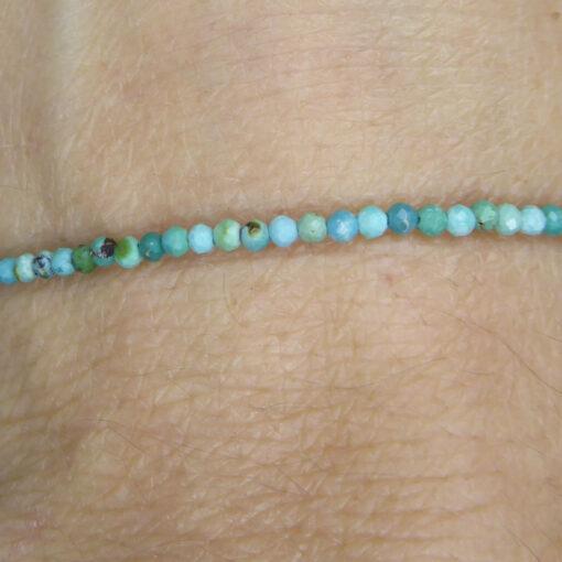 Bracelet Fin en Turquoise facettée 2mm