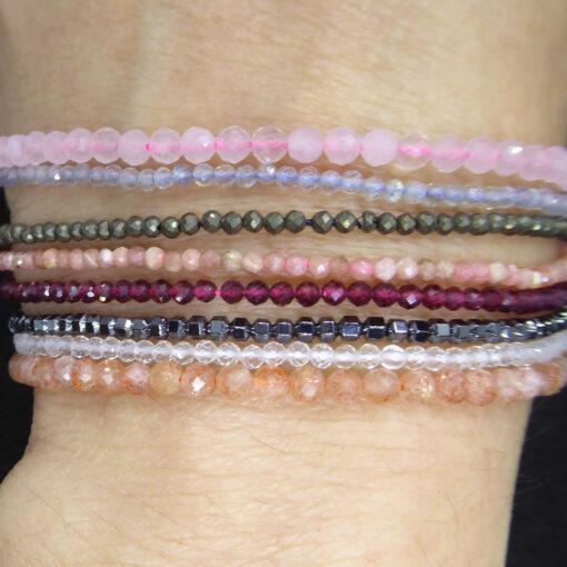 Bracelets fin en pierre semi-précieuses sur mesure